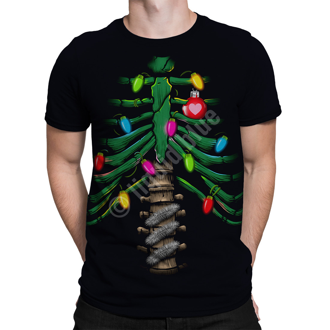 Christmas Cavity Black T-Shirt