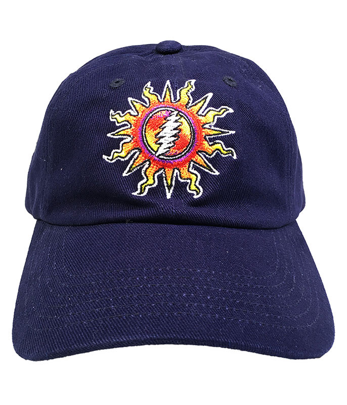 Grateful Dead Sunshine Lightning Navy Hat