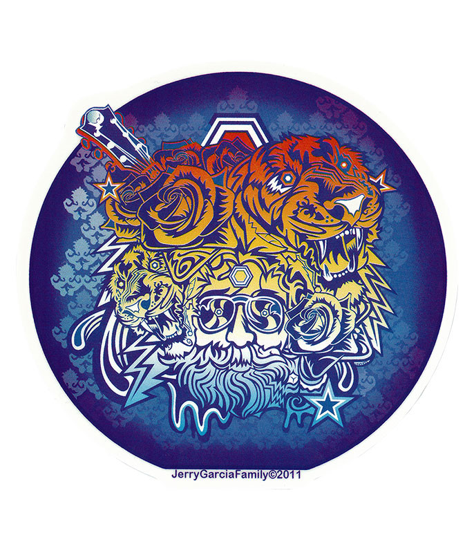 Jerry Garcia Garcia Tigers Sticker
