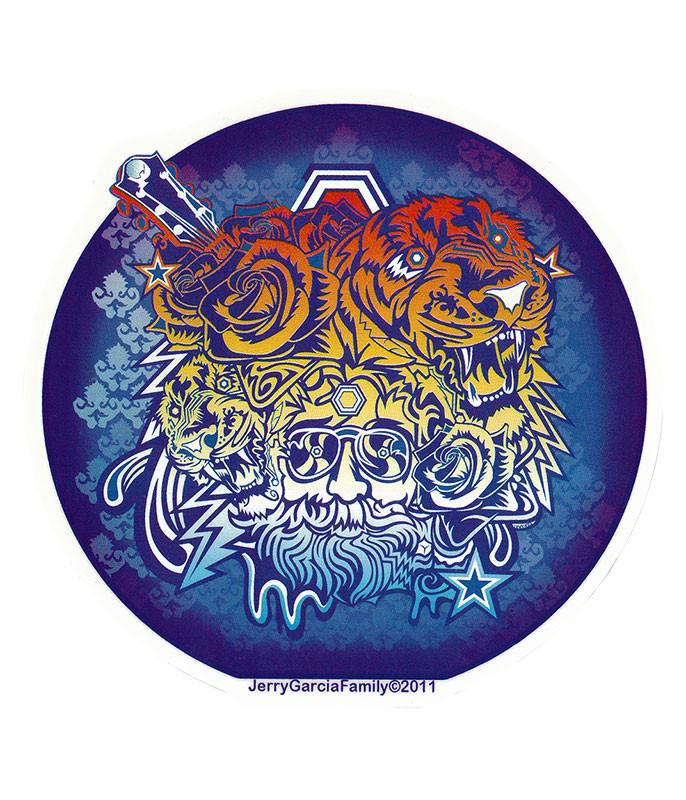Jerry Garcia Garcia Tigers Sticker