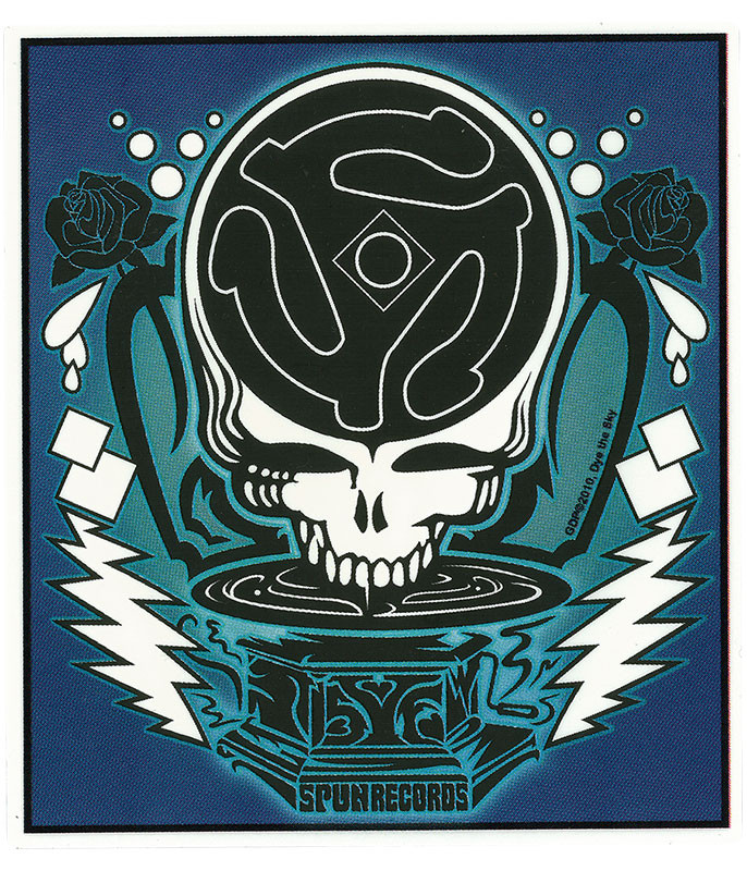 Grateful Dead GD DJ Spin Your Face Sticker