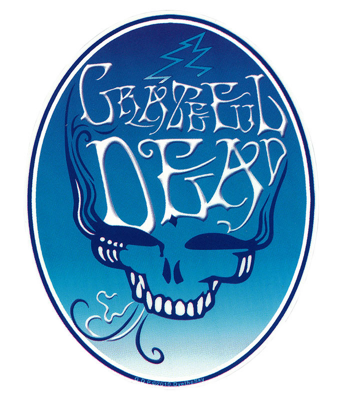 Grateful Dead GD Blue Smoke Sticker