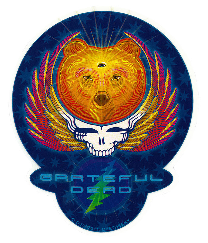 Grateful Dead GD Bear Wings Sticker