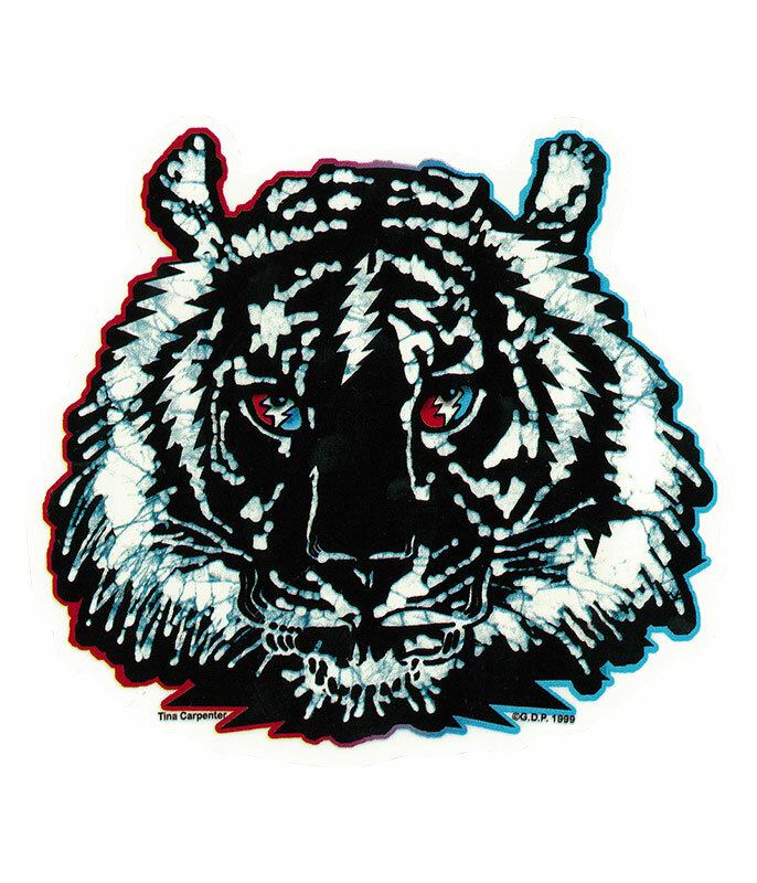 GD Tiger Batik Bolt Sticker