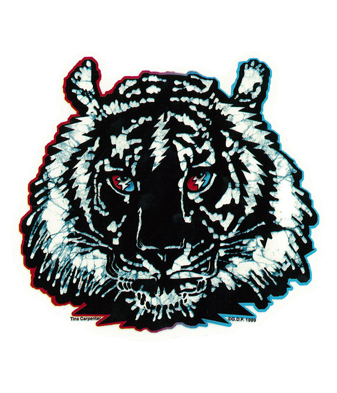 Grateful Dead GD Tiger Batik Bolt Sticker
