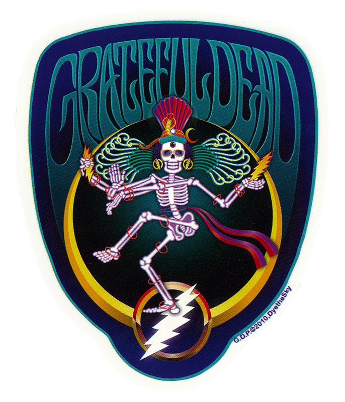 Grateful Dead GD Shiva Crescent Sticker
