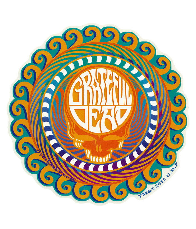 Grateful Dead GD Orange Sunshine Sticker