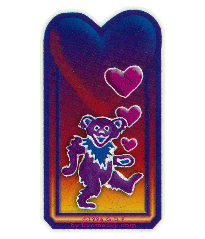 Grateful Dead GD Bear Heart Mini Sticker