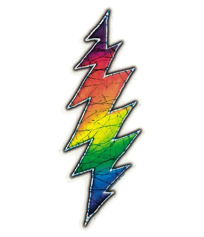 Grateful Dead Gd Lightning Bolt Mini Sticker Liquid Blue