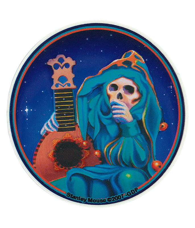 Grateful Dead GD Jester Mini Sticker