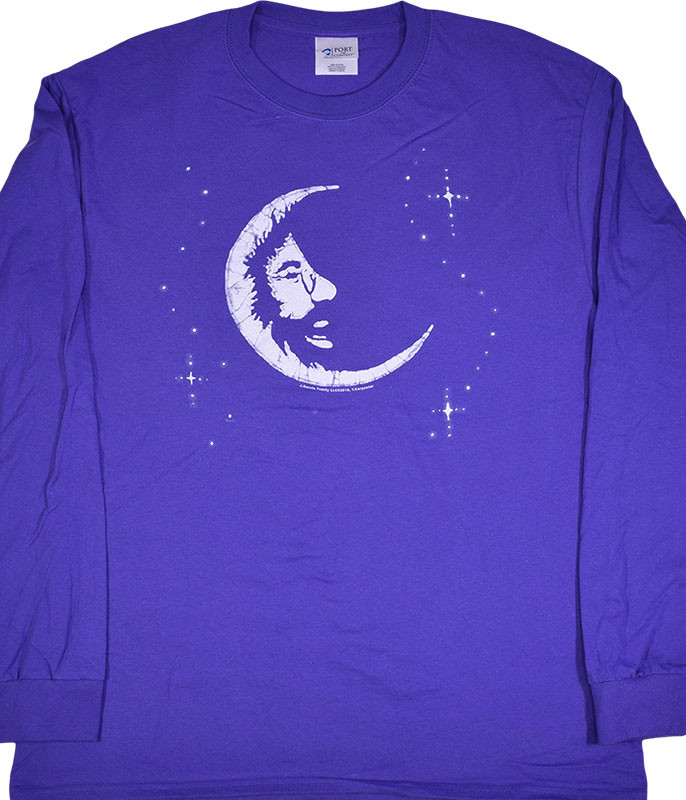 Jerry Garcia Jerry Moon Purple Long Sleeve T-Shirt Tee .