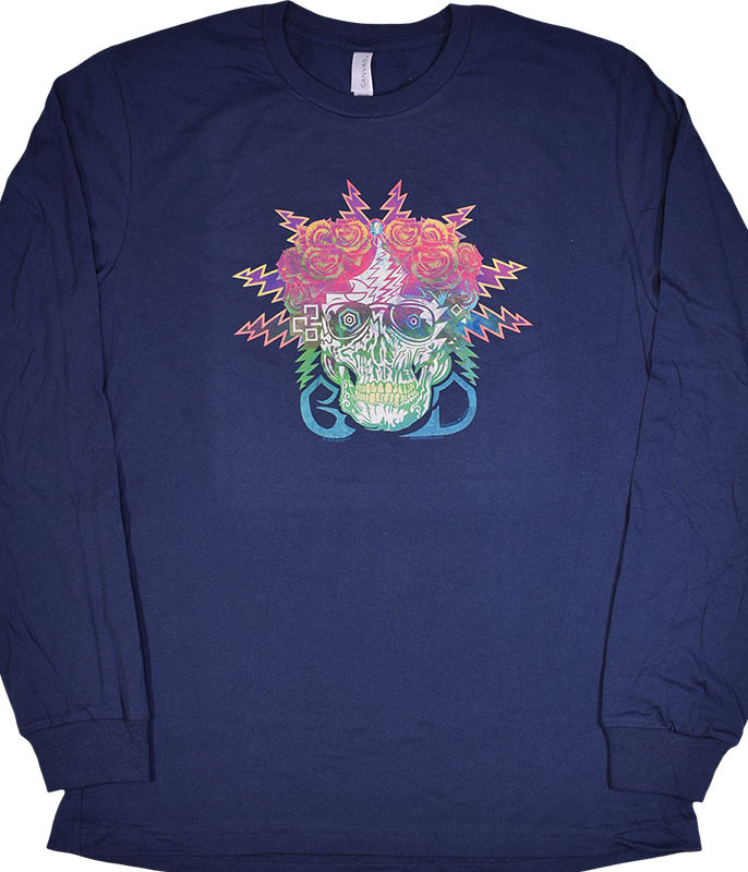 GD ELECTRIC DIMENSIONS NAVY LONG SLEEVE T-SHIRT