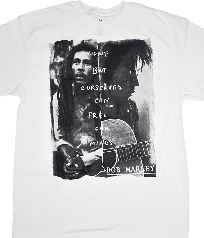 Bob Marley Free Our Minds White T-Shirt Tee