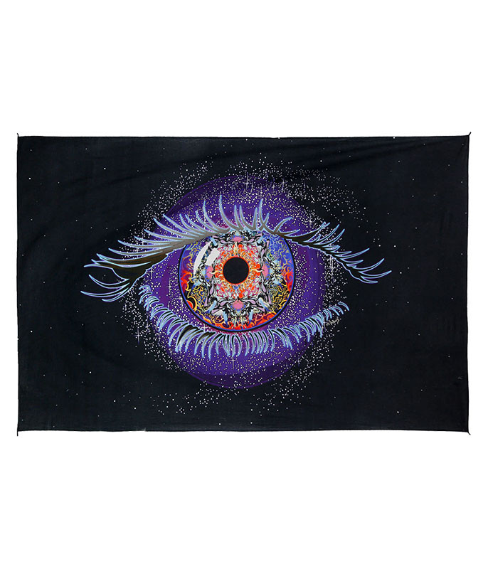 Cosmic Eye Digital Art Print Tapestry