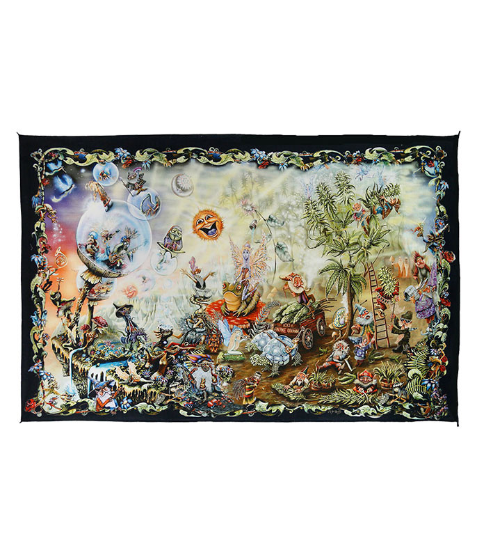 Gnome Dream Digital Art Print Tapestry