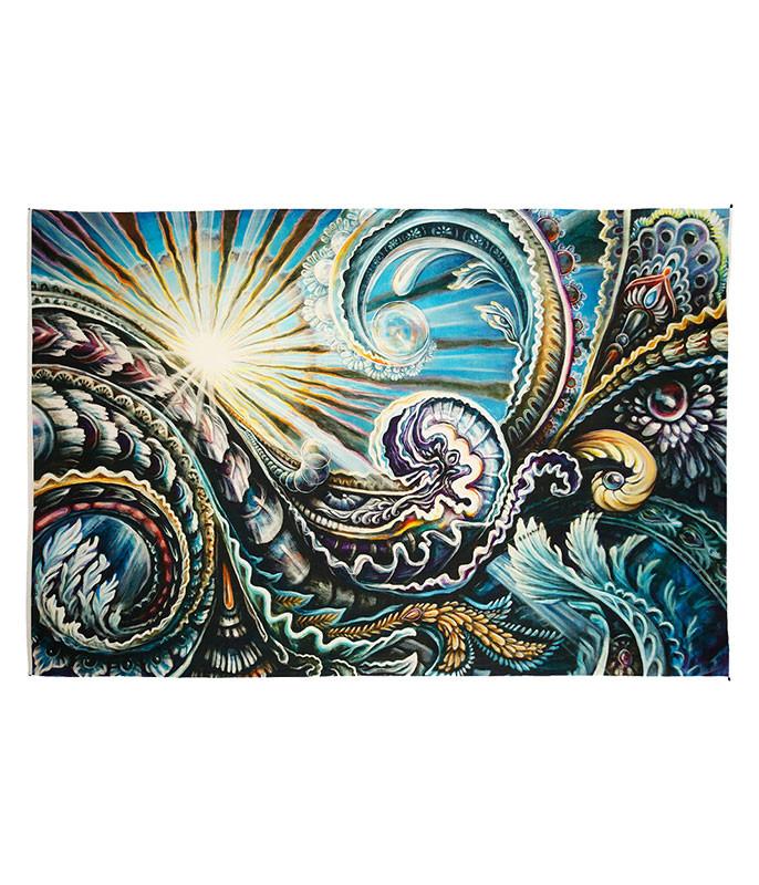 Solstice Digital Art Print Tapestry