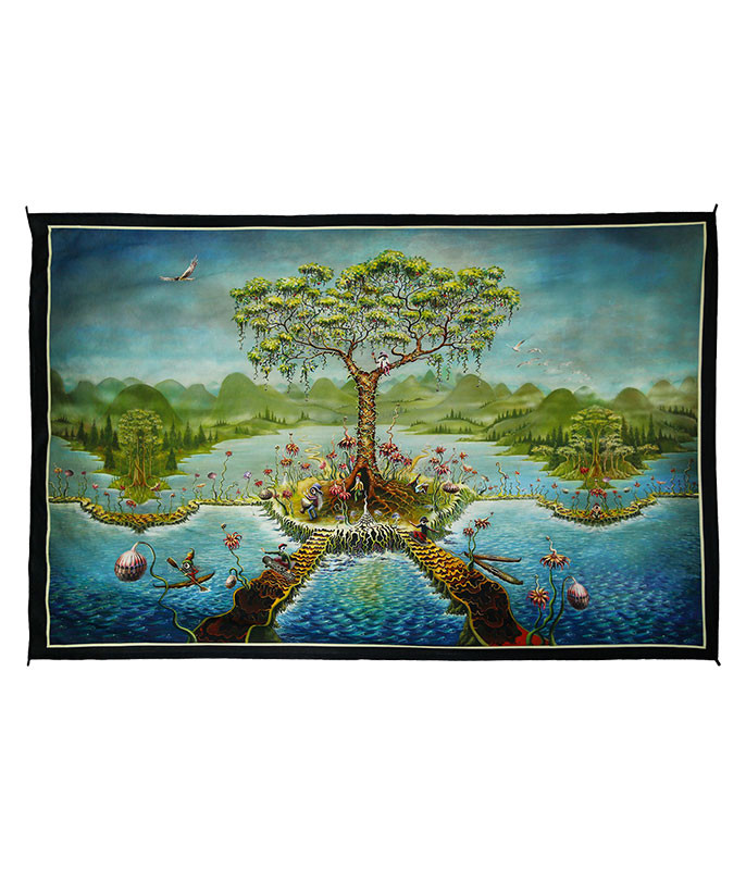 Eyeland Digital Art Print Tapestry