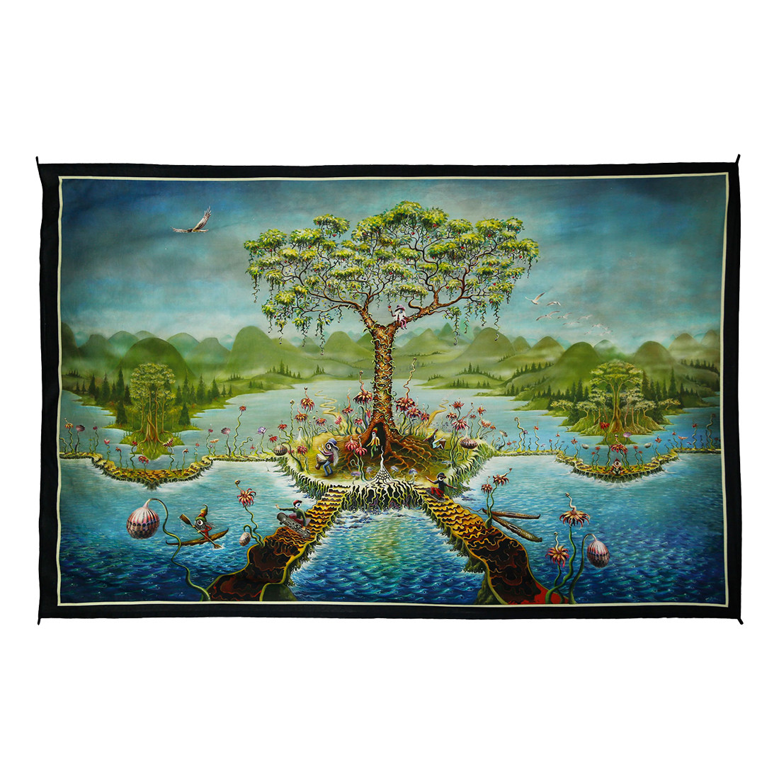 Eyeland Digital Art Print Tapestry
