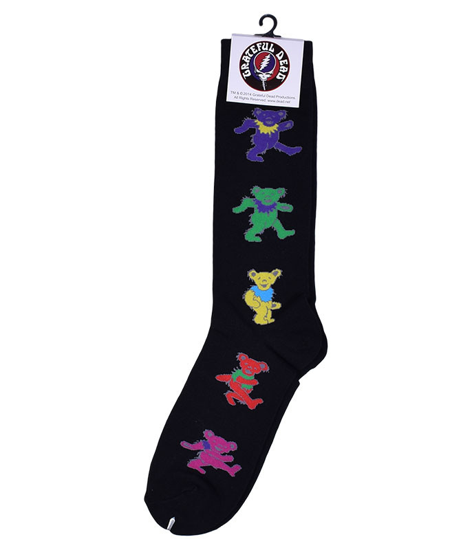 Grateful Dead Dancing Bears Men's Black Socks