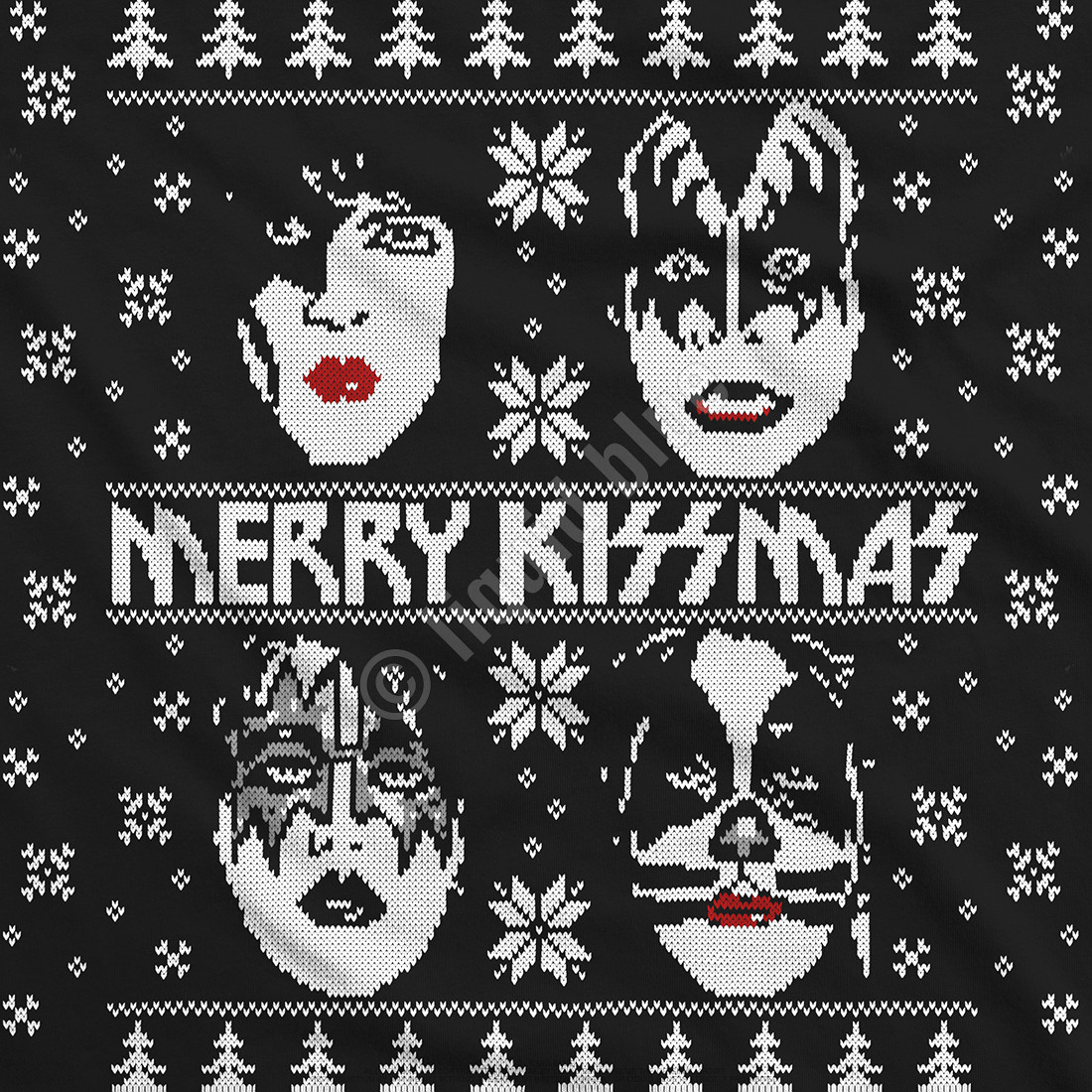 Merry KISSmas Black T-Shirt