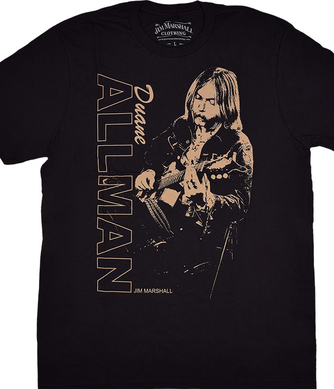 Duane Allman Golden Duane Black Athletic T-Shirt Tee