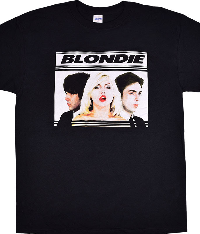 BLONDIE HOT LIPS BLACK T-SHIRT