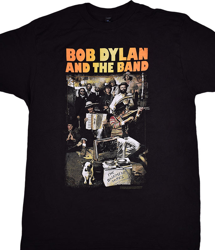 DYLAN BASEMENT TAPES BLACK T-SHIRT