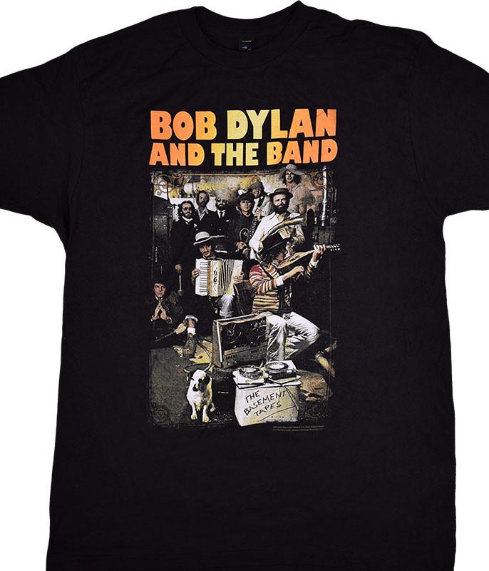 Bob Dylan Basement Tapes Black T-Shirt Tee