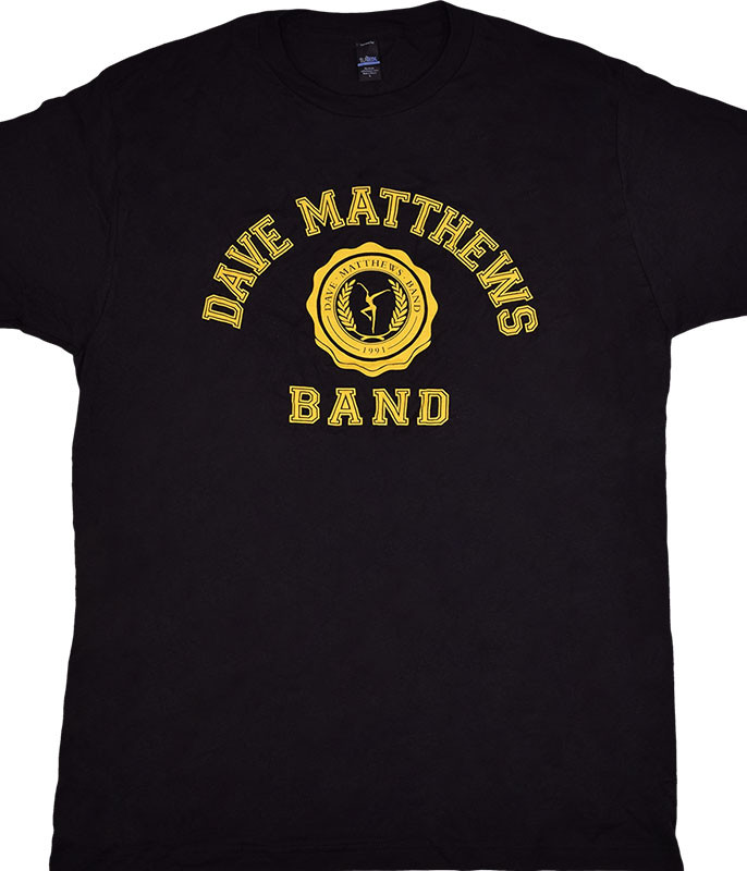 DAVE MATTHEWS BAND COLLEGE LOGO BLACK T-SHIRT