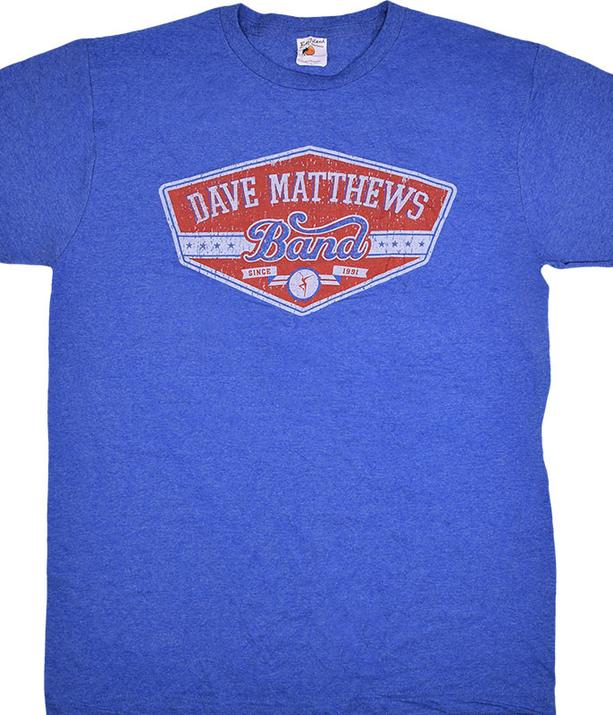 DAVE MATTHEWS BAND EAST SIDE BLUE HEATHER T-SHIRT