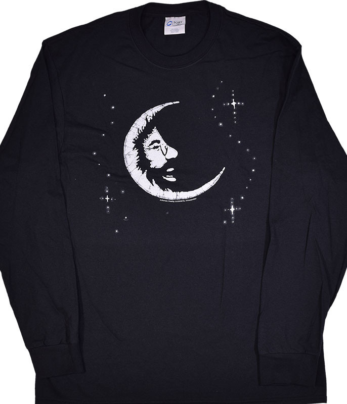 Jerry Garcia Jerry Moon Black Long Sleeve T-Shirt Tee