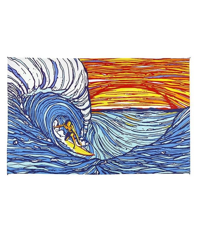 Sunset Surfer Tapestry