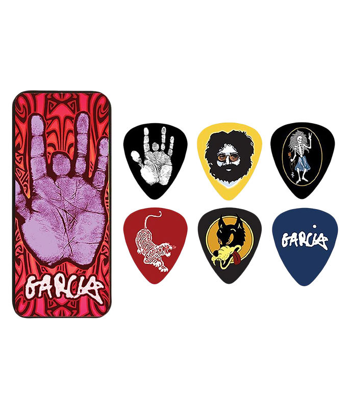 Jerry Garcia Guitar Picks and Tin