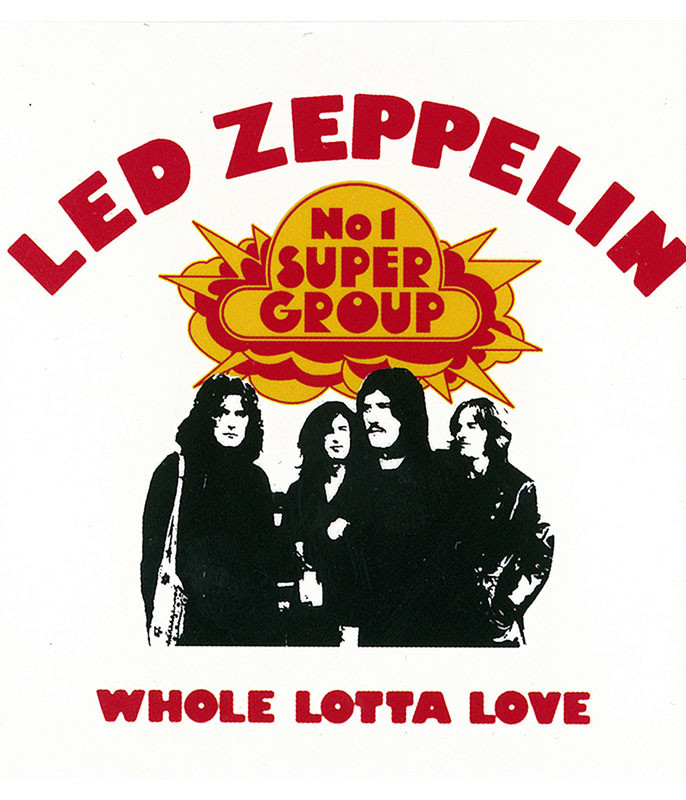 LED ZEP WHOLE LOTTA LOVE MAGNET