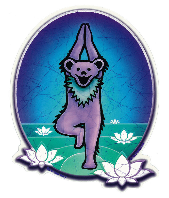 Grateful Dead GD Yoga Bear Sticker