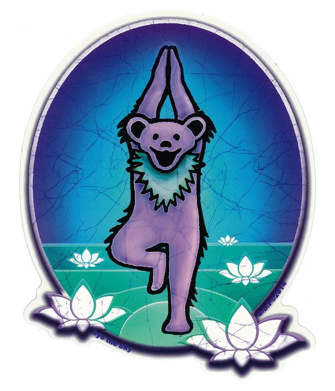 Grateful Dead GD Yoga Bear Sticker