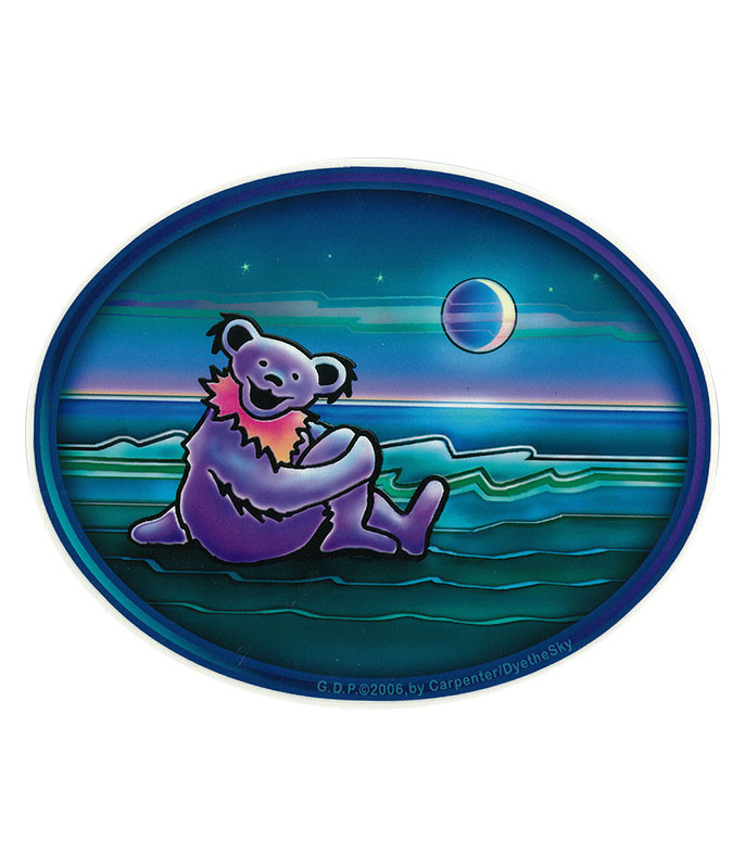 GD BEAR BY THE WATERSIDE STICKER