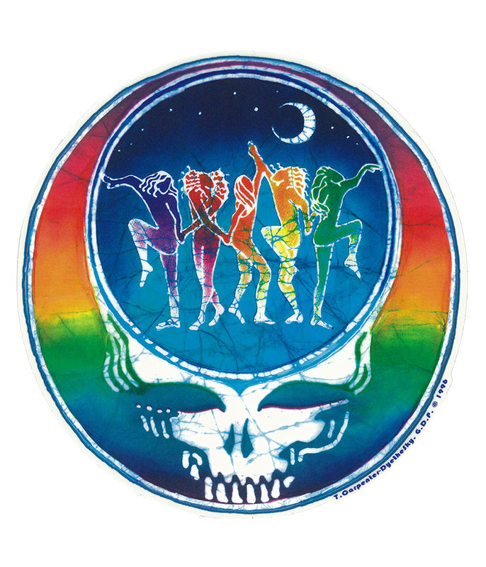 Grateful Dead GD Dancing Face Sticker