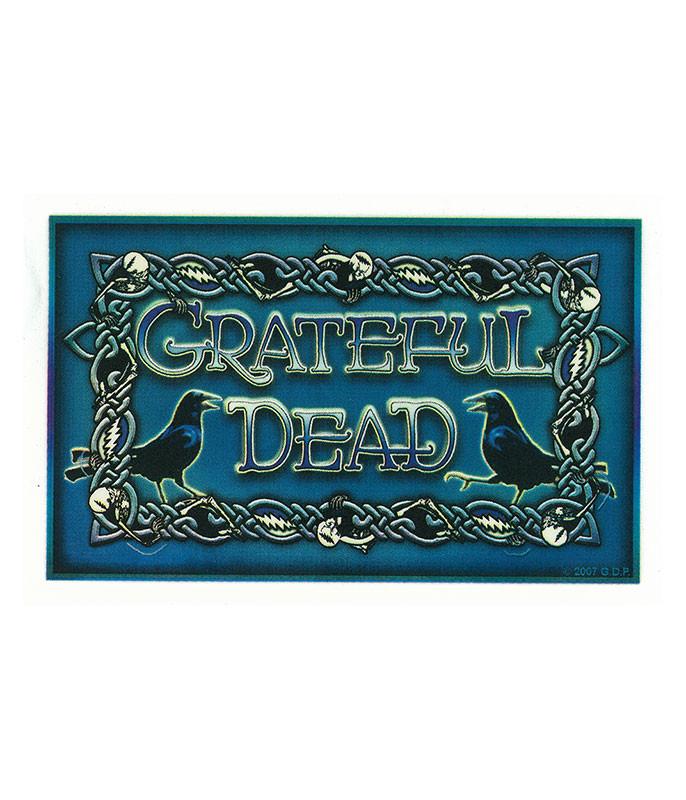 Grateful Dead GD Skeleton & Crow Weave Sticker