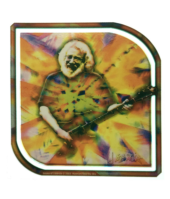 Jerry Garcia Facets Window Sticker