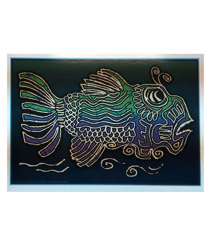 JERRY GARCIA FISH WINDOW STICKER