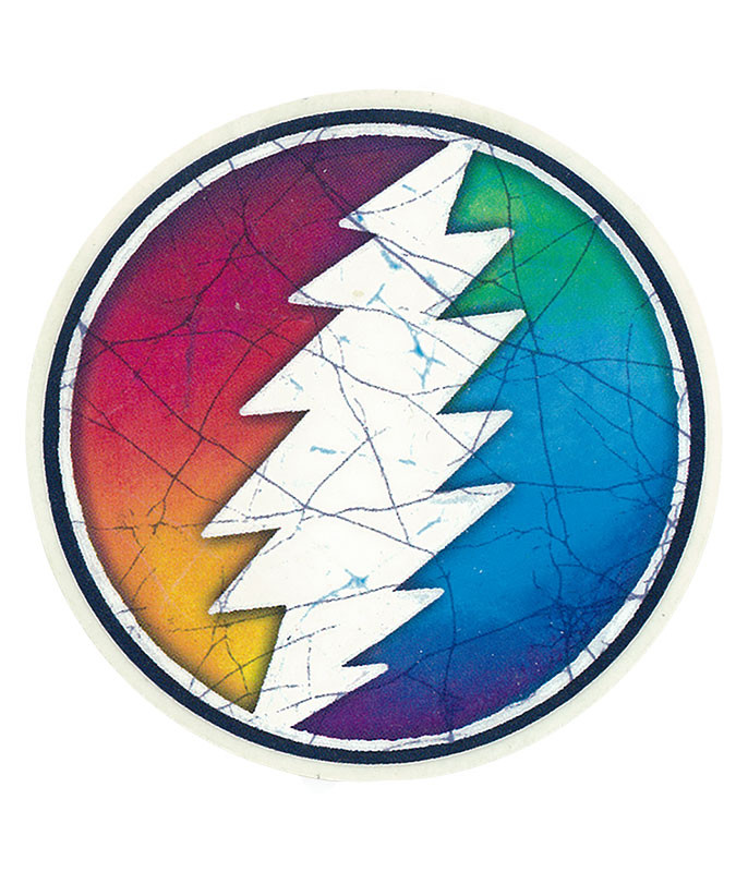 Grateful Dead GD Circle Bolt Mini Sticker