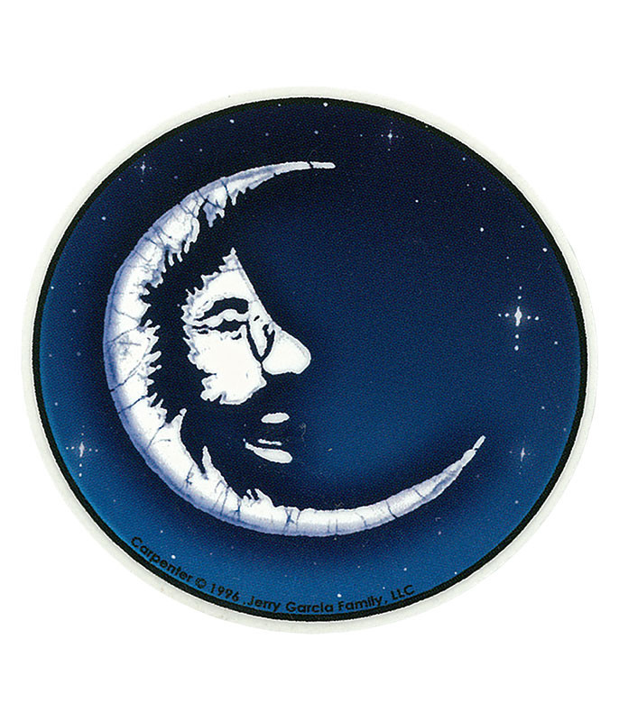 Jerry Garcia Jerry Moon Mini Sticker