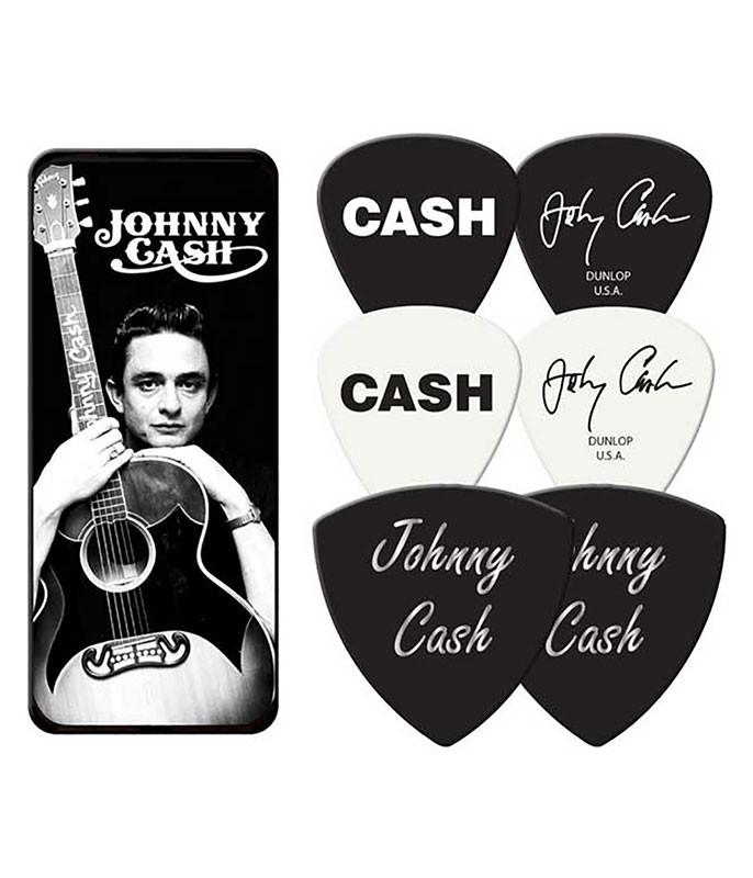 Johnny Cash Guitar Picks and Tin