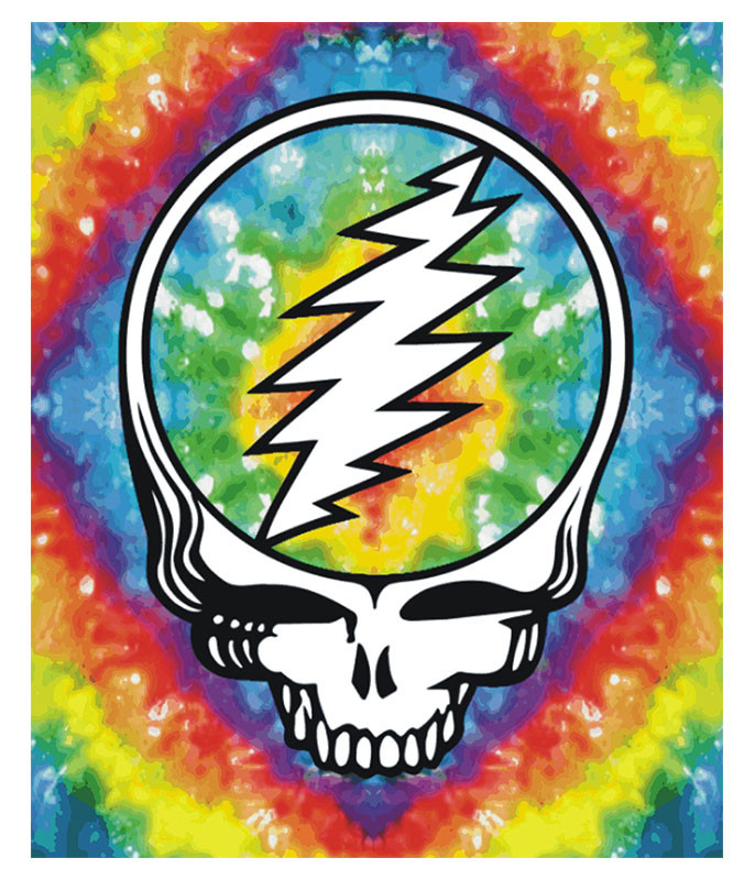 Grateful Dead GD SYF Tie-Dye Fleece Blanket