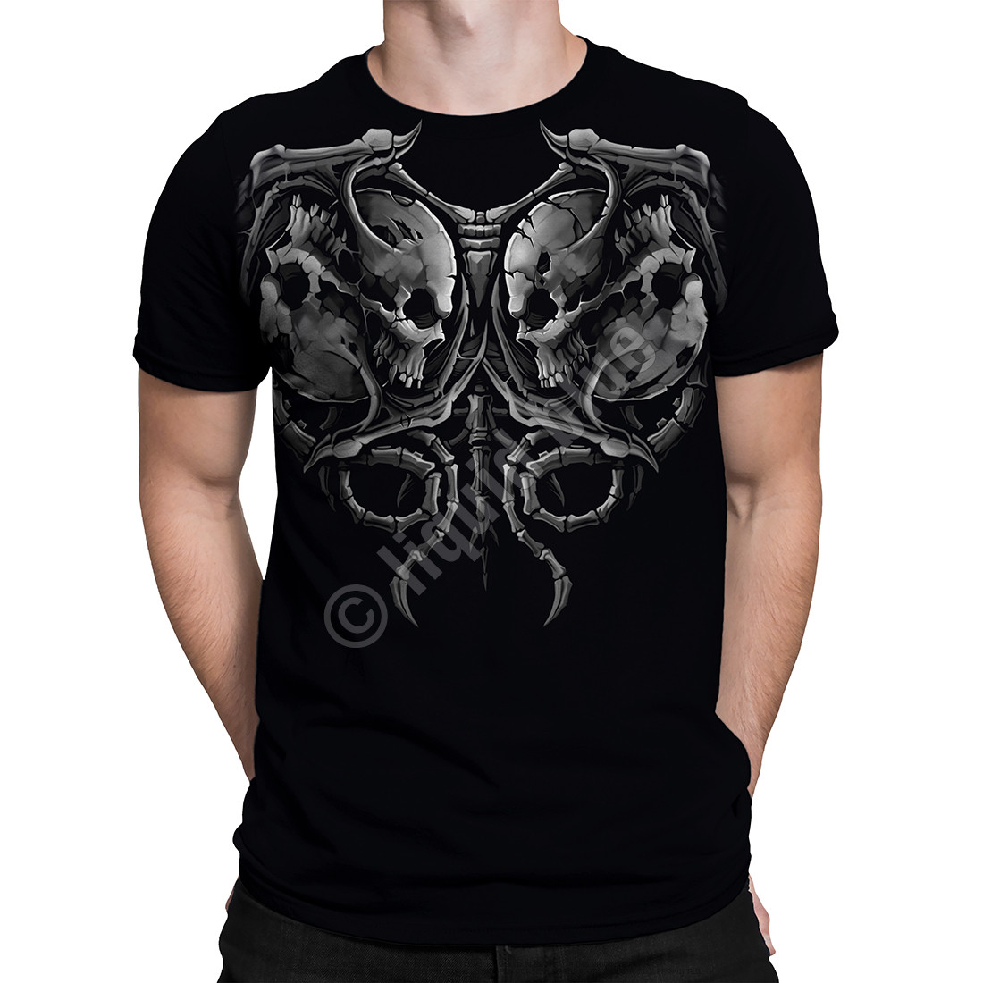 Demon Faceoff Black T-Shirt
