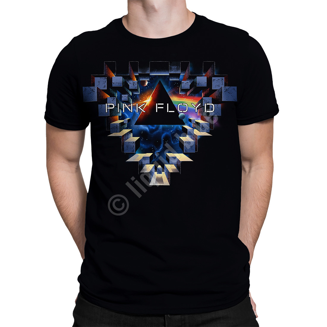 Space Window Black T-Shirt