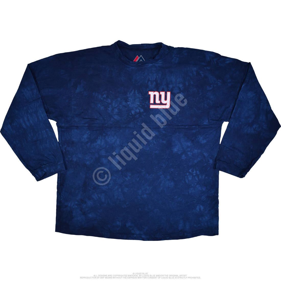 New York Giants Gridiron Tie-Dye Boyfriend Jersey