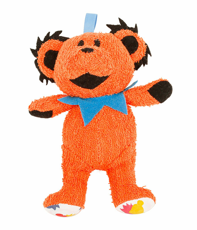 GD Orange Dancing Bear Baby Rattle