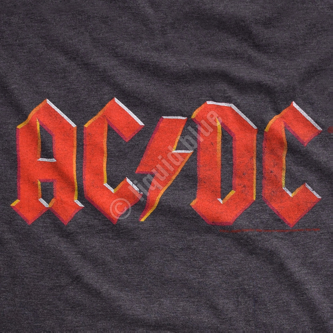 AD/DC Vintage Logo Dark Heather Poly-Cotton T-Shirt